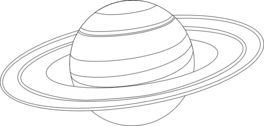 Saturn outline for coloring