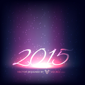 Stunning 2015 New Year Background on Space