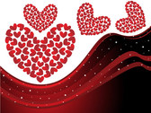Heart-Shaped Vector Graphic Dynamic Lines Of The Background