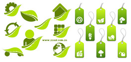 Green vector graphics and labeling material