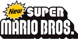 New Super Mario Bros Logo PSD