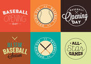 Baseball Opening Day Logo Vector Set