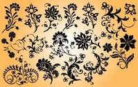 Mix Pack of Floral Ornament