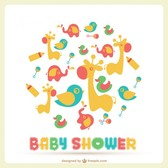 Baby shower vector template