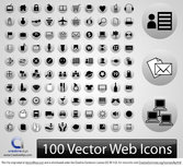 100 vector Web iconen