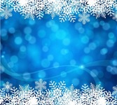 Blue Christmas Background Vector Art