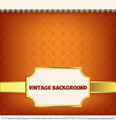 Glowing Vintage Label Background