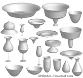 Free Vector 3D Kitchen Items
