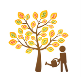 Creative gold coin tree
