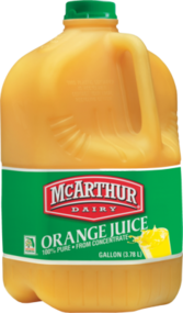 ORANGE JUICE GALLON OJ PSD