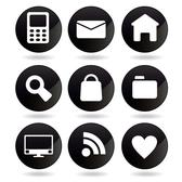 BLACK INTERNET VECTOR ICONS.eps