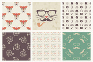 Exclusive: Free Hipster Seamless Patterns from Vecteezy