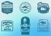 Sea and Ocean Tourism Label PSDs
