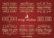 Vector Holiday Ornament Text Frames