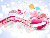 Colorful Abstract Bokeh & Hearts Valentine Background