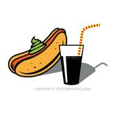 HOT DOG AND DRINK VECTOR IMAGE.eps