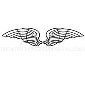 PAIR OF WINGS VECTOR GRAPHICS.eps