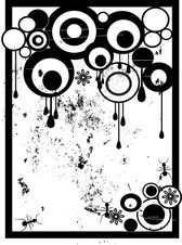 Grungy, Nasty Circles Vector With Drips And Removable Ants