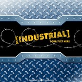 Industrial metal vector template