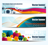 Colorful banners geometry