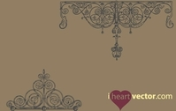Antique Iron Ornament Vector Pack