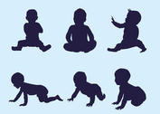 Vector Baby Silhouettes