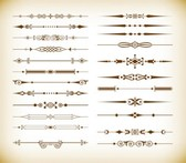 Vector Set of Vintage Design Divider