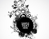 Black Abstract Background With Space For Text