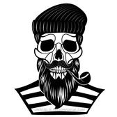 SKULL OF OLD SAILOR VECTOR IMAGE.eps
