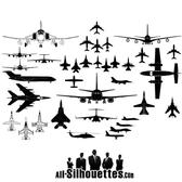 AIRPLANES SILHOUETTES VECTOR FORMAT.ai