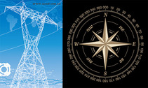 High-Voltage Wire Frame And The Compass