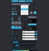 Finely Crafted Web UI Elements Kit PSD