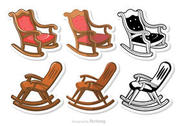 Rocking Chair Vectors Pack