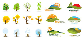 Tree icon with the logo template