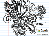 Hand Drawn Notebook Doodle Flower