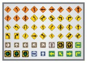 old traffic signs icon