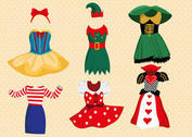 Fancy Dress Costume Vector Pack