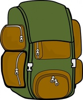 Backpack Green Brown