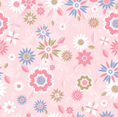Pink flowers seamless background