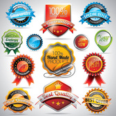 13 High Quality Labels and Stickers Vector Set