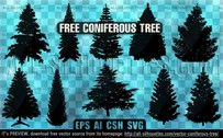 8 Vector coniferous tree