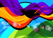 Abstract Colorful Wave Art