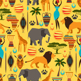 Africa style seamless background