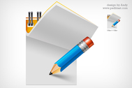 writing pad icon (PSD)