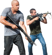 "HQ"" Vin Diesel & Paul Walker Holding Guns PSD"