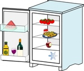Fridge With Food Jhelebrant