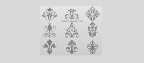 9 Decorative Floral Vector Logos Set
