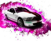 Mustang lady splash PSD