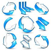 Glossy Blue 3D Arrow Pack