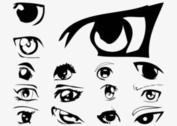 Vector Anime Eyes